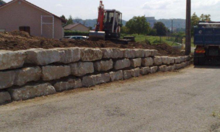 FAF TP Création mur d'enrochement Montalieu-Vercieu